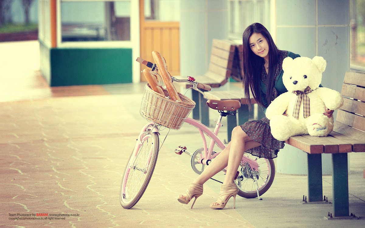 Cool stylish girls with teddy