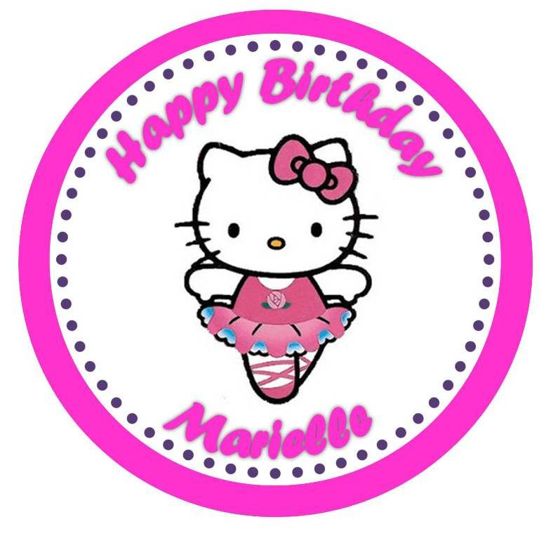 Liz Loves Lexi And Arkin Hello Kitty Cupcake Toppers