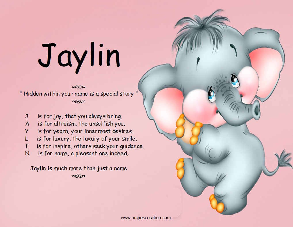 jaylin hidden within your name is a special story j is for joy that ...