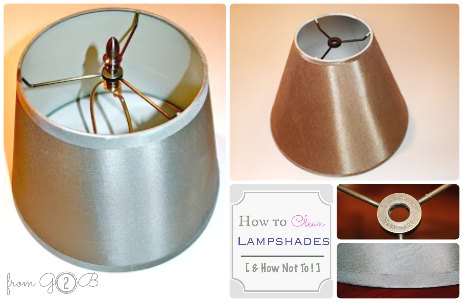 from Gardners 2 Bergers: Cleaning Thirft Store Lampshades
