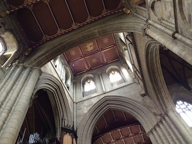 Chuck and Lori's Travel Blog - Differing Arch Shapes and Heights at Ripon Cathedral