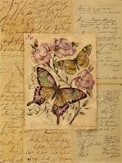 Cartas de Amor...uma lina flor ....borboletas para decorar ...