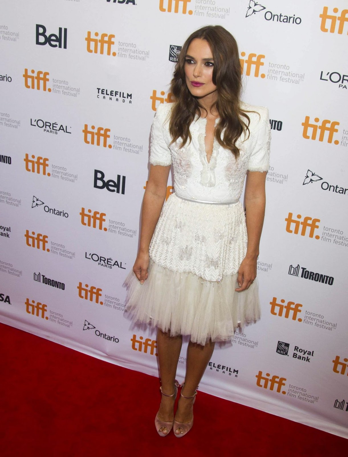 Keira Knightley is beautiful in Chanel at 'The Imitation Game' Toronto International Film Festival' premiere