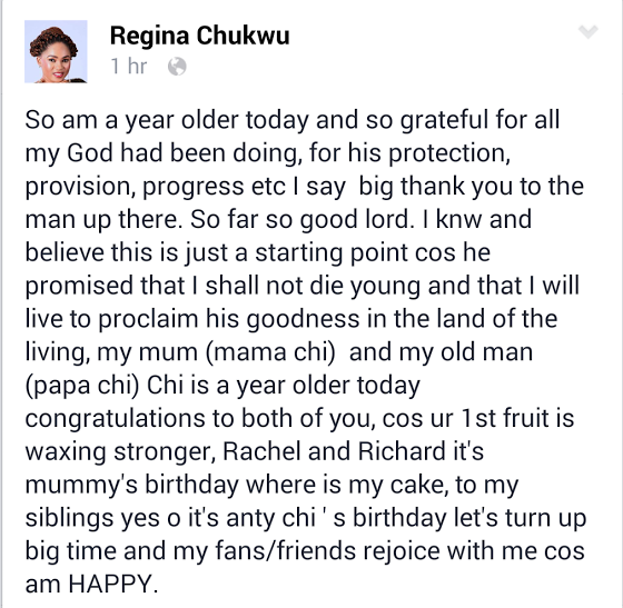 Mercyflawless Blog: Actress Regina Chukwu's Lovely