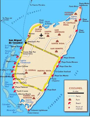 Cozumel Mapa Político Región