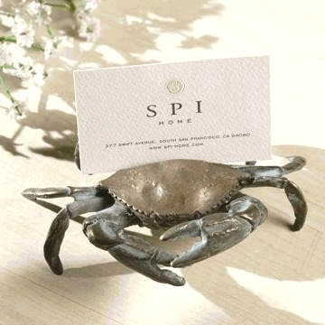 crab card holder