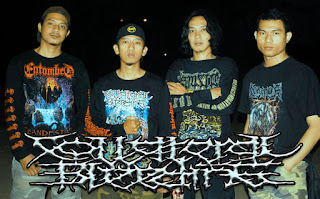 Collateral Bleeding Band Brutal Death Metal / Grindcore batang Jawa Tengah Foto Logo Font Cover Artwork Wallpaper