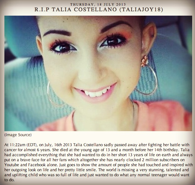Talia Joy picture from coffee and cosmetics blog