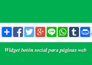 Widget botón social para páginas web