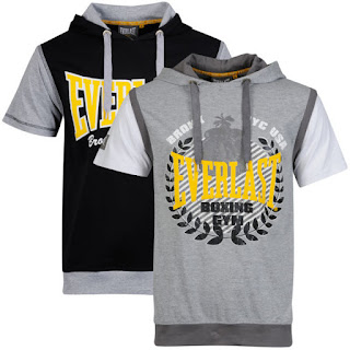 Everlast Men's 2-Pack Short Sleeve Layered T-Shirts - Grey/White Sleeve and Black/Grey