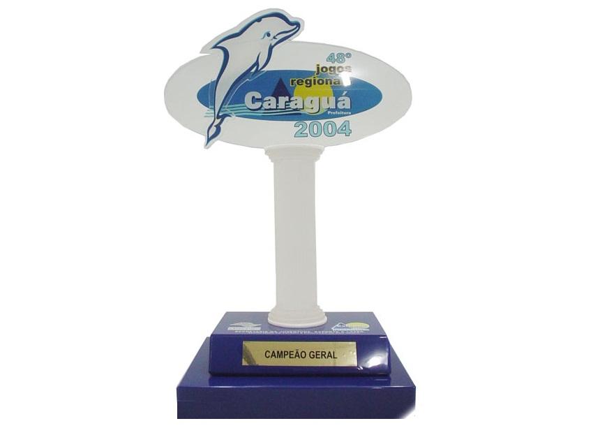 Troféu (PRATA) para UBATUBA nos Jogos Regionais 2004