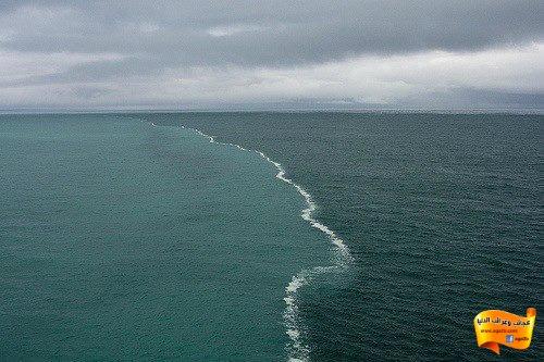 ظاهرة البرزخ في قوله تعالى(مرج البحرين يلتقيان بينهما برزخٌ لا يبغيان)المحيط الأطلسي ببحر الشمال