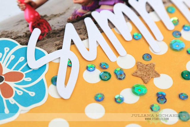 Sneak Peek Scrapbook Page by Juliana Michaels featuring Spiegelmom Scraps Embellishments