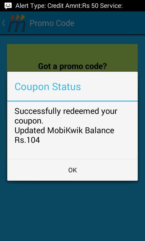 Mobikwik 100% Cashback Offer : Add Rs 50 and get Rs 50 Cashback