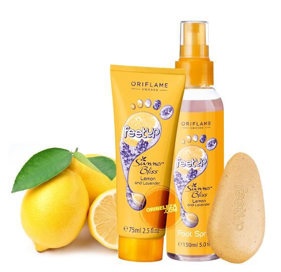 Cuidados dos Pés Limão e Lavanda Summer Bliss Feet Up da Oriflame