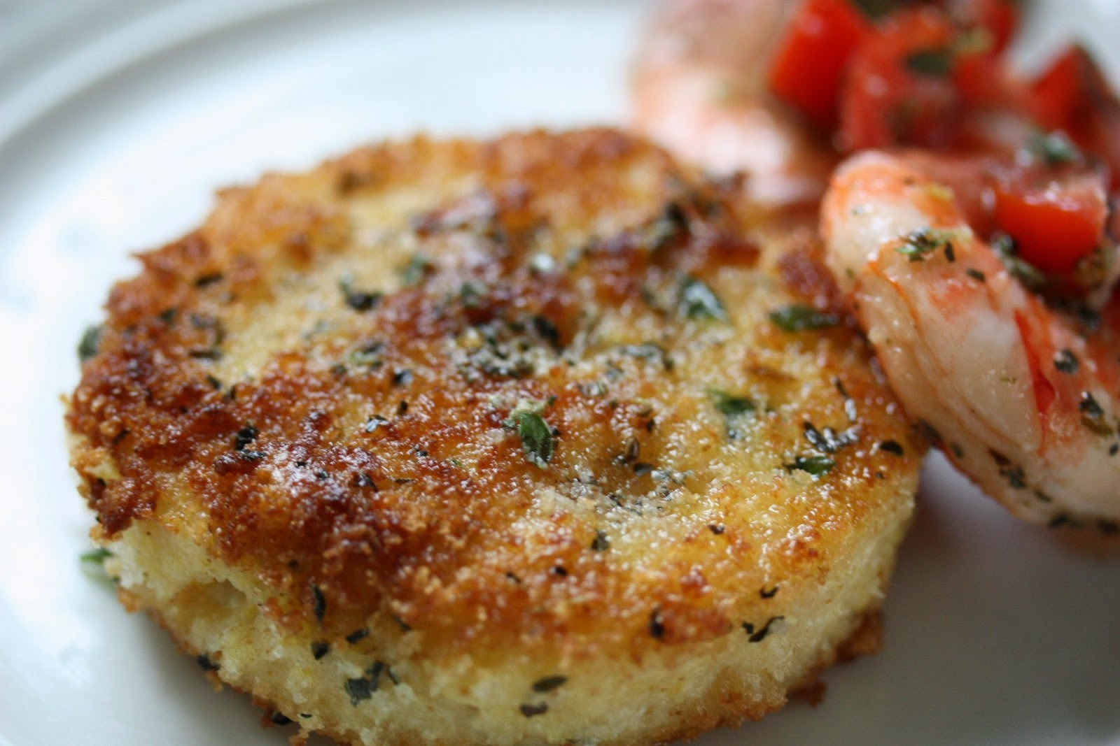Pan-Fried Cheese Grits Cakes with Lemon and Olive Oil ...