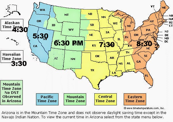 Geography Blog US Maps  Time Zones