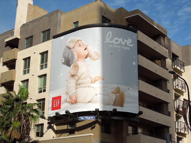 Love at first sight Baby Gap billboard