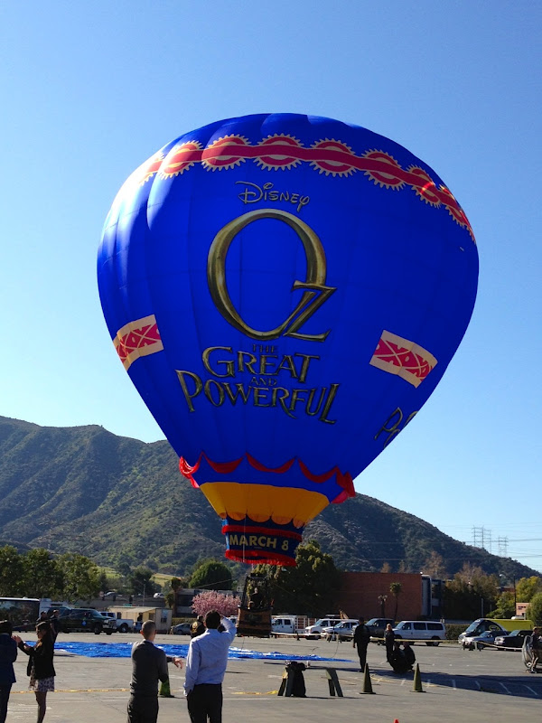 Oz Great Powerful hot air balloon Walt Disney Studios