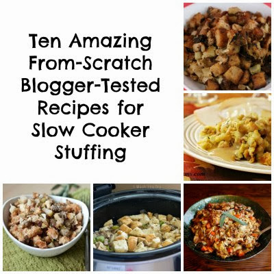 50+ Recipes for a Slow Cooker Thanksgiving featured on SlowCookerFromScratch.com