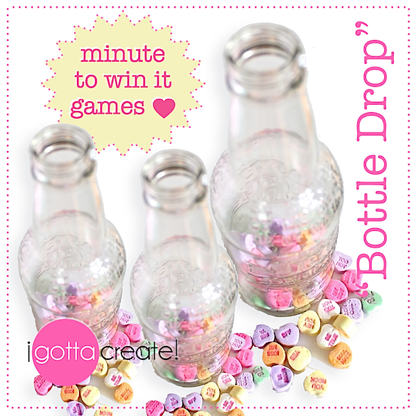 #Valentine Bottle Drop game at I Gotta Create!
