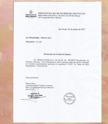 Reconhecimento Secretaria Cultura SP