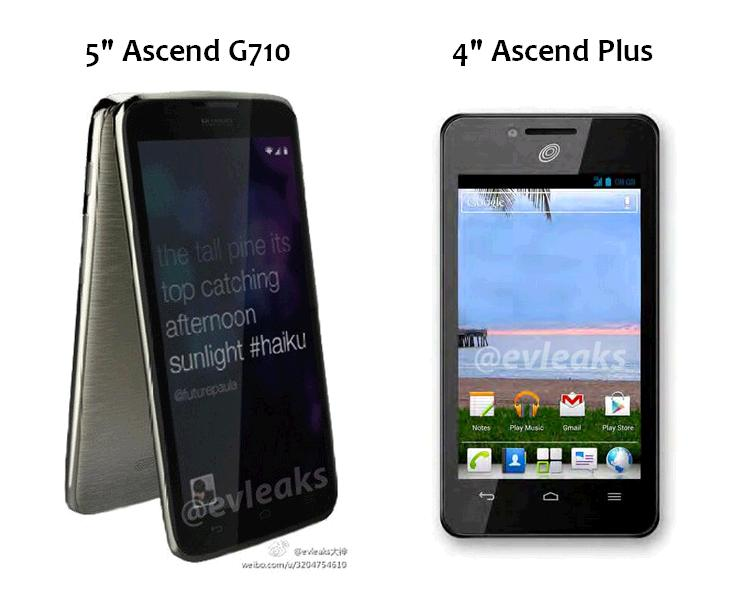Huawei Ascend Plus and Huawei Ascend G710