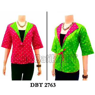 DBT 2763 - Trend Blouse Batik Wanita Terbaru 2013