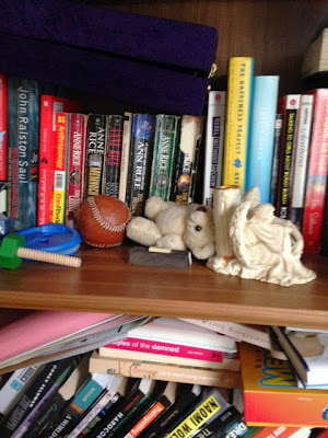 """bookshelf """"family"""", Anne Rice Book collection"""
