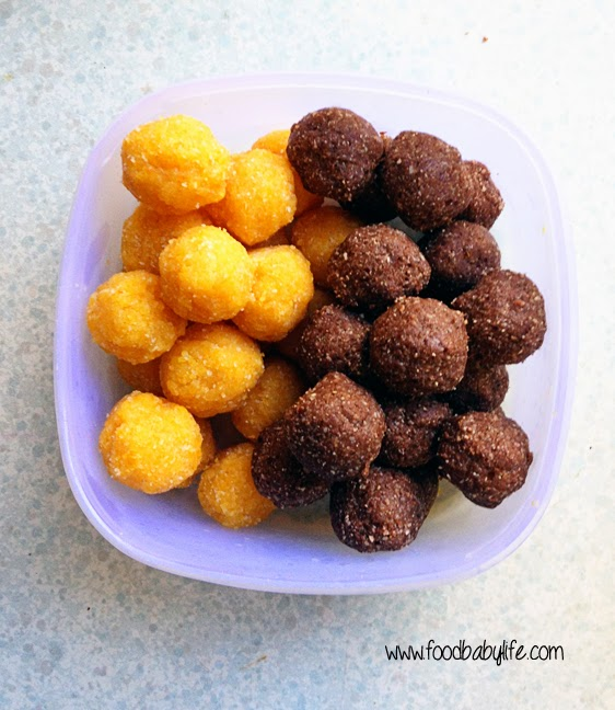 Nut free Bliss Balls © www.foodbabylife.com