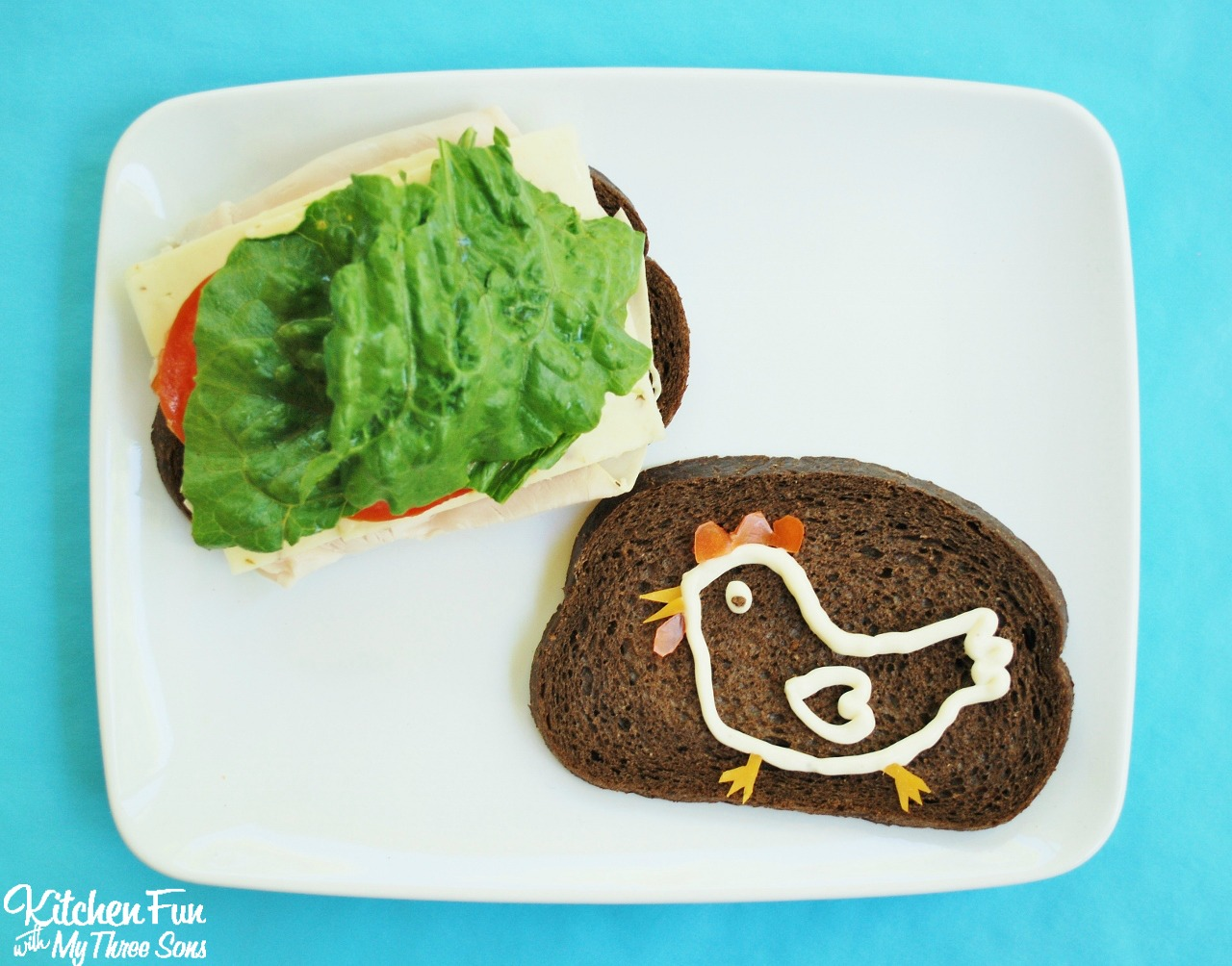 Fun Lunch Ideas for Kids using Mayo from KitchenFunWithMy3Sons.com