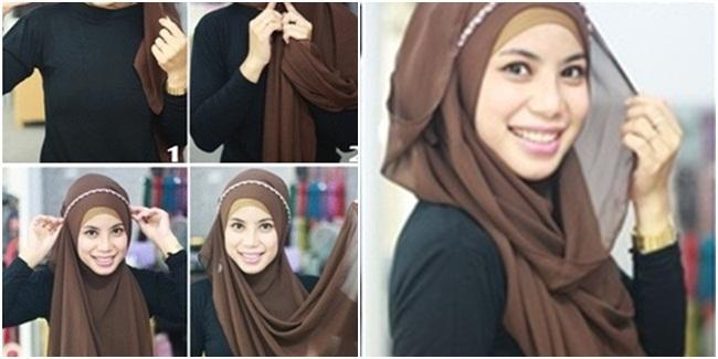 ... Jilbab Pashmina Menutup Dada   Cara Memakai Jilbab Kreasi Modern