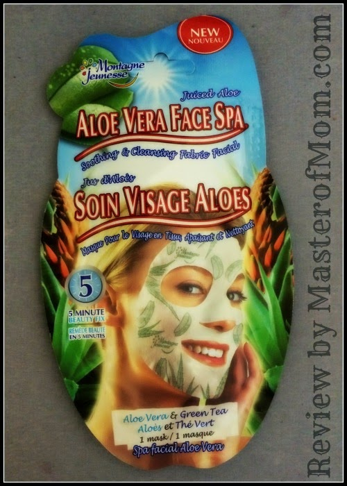 Refreshing aloe vera facial mask by Montagne Jeunesse