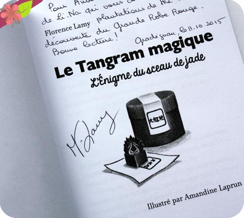 Dédicace de Florence Lamy - Le tangram magique : L'énigme du sceau de jade - Salon Lire en Poche 2015 - Gradignan