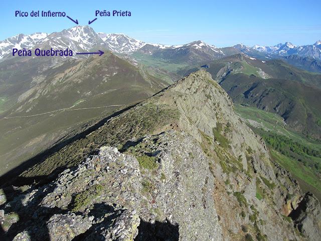 Peña Qebrada o Quebradora, Pico del Infierno