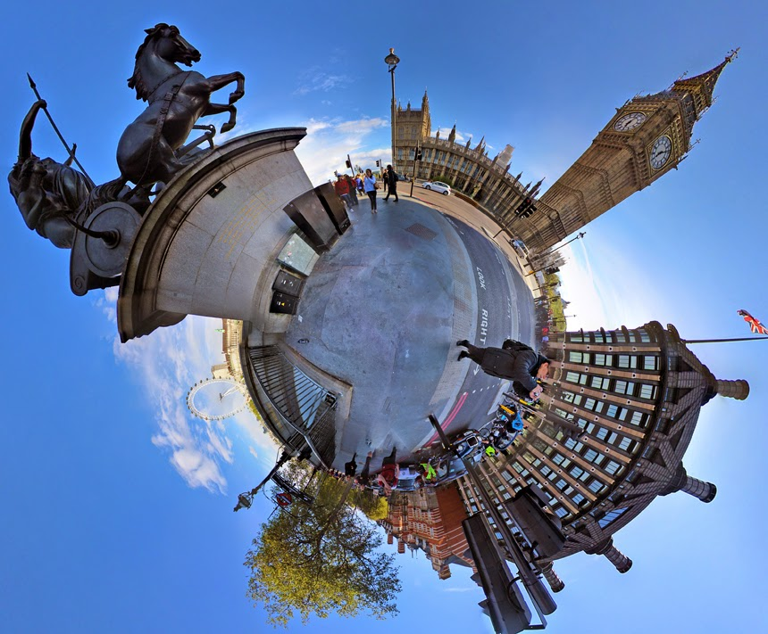stereographic london igor fain big ben little planet