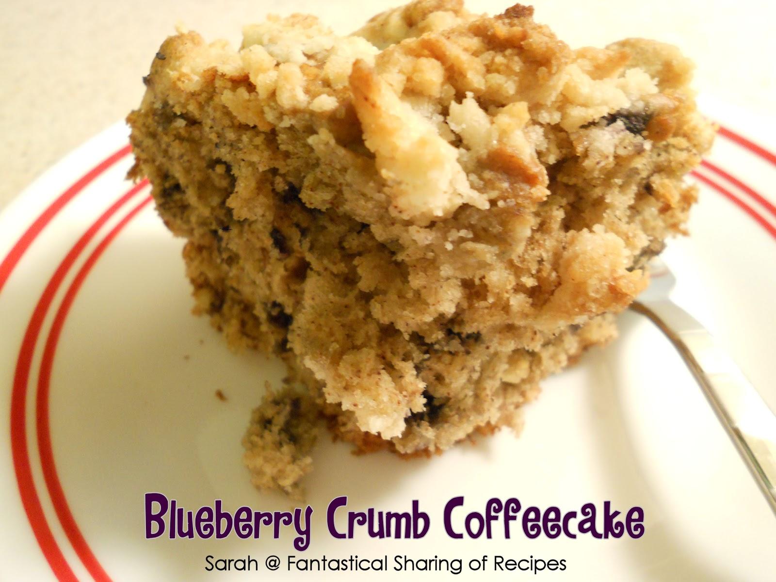 Fantastical Sharing of Recipes: Blueberry Crumb Coffeecake