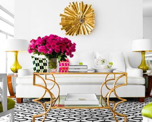 Sunburst Starburst Mirror Gold Living Room Art