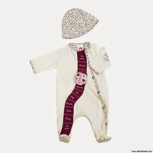 Pyjama bébé fille avec bonnet