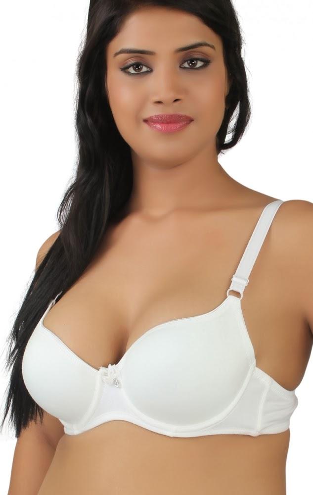 Hot Beautiful Indian Model in Various White Bra Photo ...
