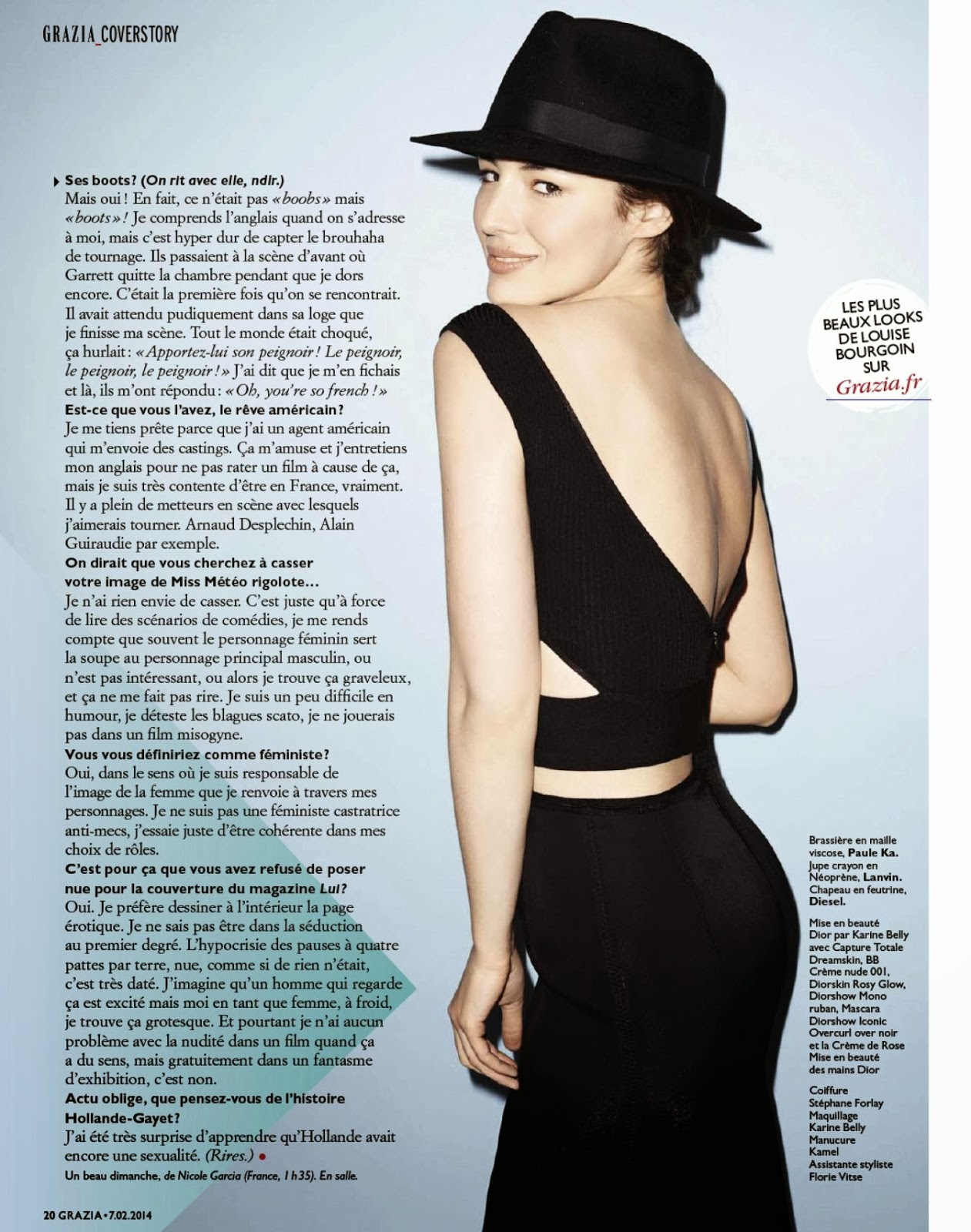 Louise Bourgoin HQ Pictures Grazia France Magazine Photoshoot February 2014