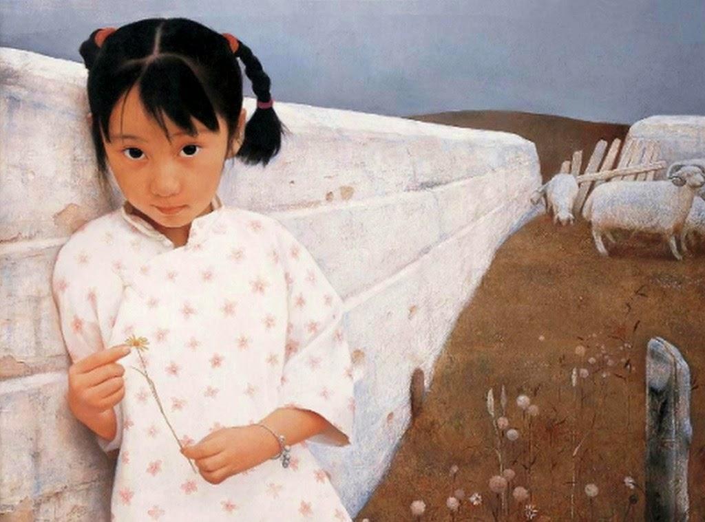 retratos-de-niñas-pintados-con-oleo