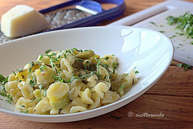 Orecchiette alle zucchine  ricetta light