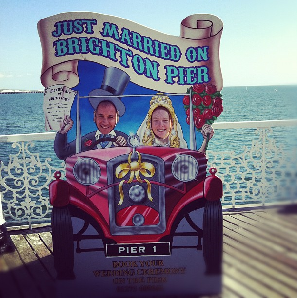 Just married - Brighton Pier