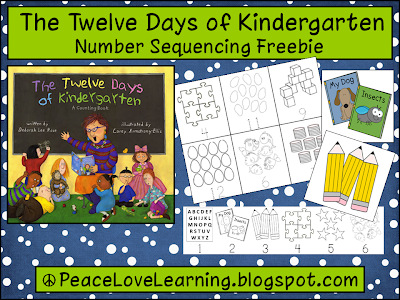 Cute number sequencing activity from Peace, Love and Learning