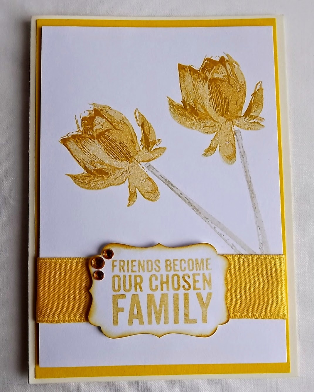 Stampin Up! card, Hello Honey, Lotus Blossom
