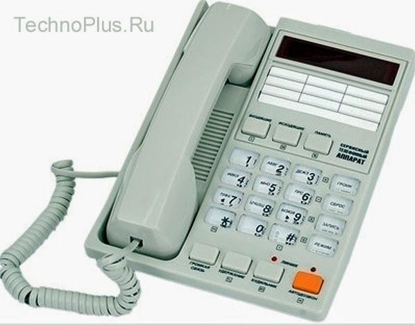 Телефон с определителем номера АОН Русь 28 KX-T2308 для российских телефонных сетей с обновленной прошивкой