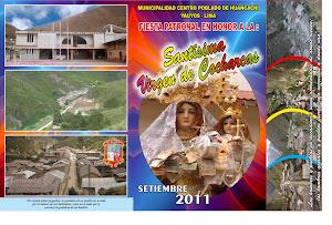 fiesta patronal en honor a la Virgen de Cocharcas de Huancachi Tomas Yauyos deñ 6 al 10 set