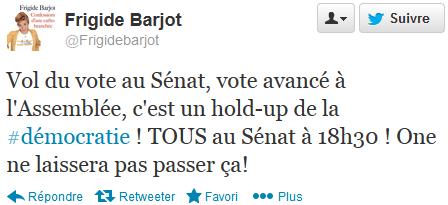 Tweet Frigide Barjot