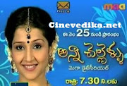 Watch All episodes of Anna Chellellu Telugu Daily Serial